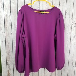 Ashley Stewart Purple Blouse
